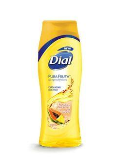 Dial Pura Fruta Papaya & Pineapple Exfoliating Body Wash 473 ML Body Shower, Shower Gel, Dial Soap, Tanning Cream, Younger Looking Skin, Skin Treatments, Body Wash, Healthy Skin, Bath And Body