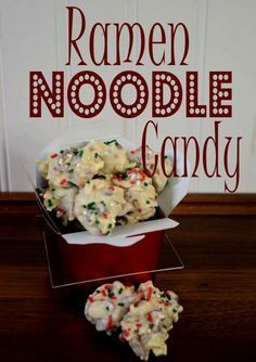 Day 6~12 Days of Christmas Candy, Ramen Noodle Candy - Pink Cake Plate