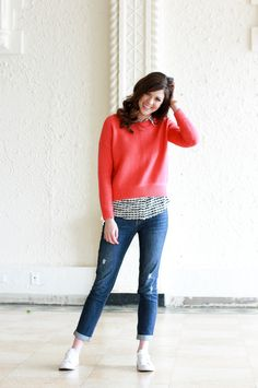 Hearts and Sweaters, a casual Valentine's date look · Sparkles and Sprinkles
