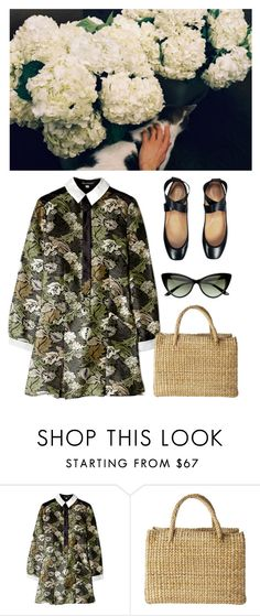 """Blue Hydrangea"" by laurenmarron ❤ liked on Polyvore featuring Ostwald Helgason, Chloé, Toast and laurenthelabel"