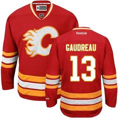f948da4cc08 Reebok Calgary Flames  13 Youth Johnny Gaudreau Authentic Red Third NHL  Jersey