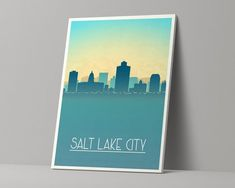 Items similar to EL PASO Texas Stretched Canvas Poster Skyline Ready to Hang on Etsy City And Colour, Salt Lake City Utah, Louisville Kentucky, Canvas Poster, Stretched Canvas, Bubbles, Skyline, This Or That Questions, Etsy