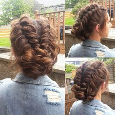 Dutch fishtail updo