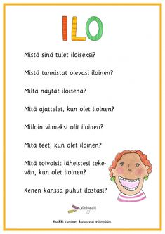 Tunne- ja kaveritaidot - Värinautit Learn Finnish, Family Guy, Teaching, Words, Fictional Characters, Education, Fantasy Characters, Horse, Griffins