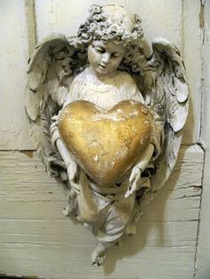 angel with gold heart