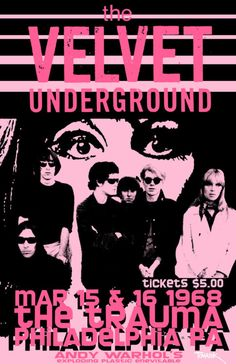 The Velvet Underground - tickets were $5. I looked this up, because I'm that way, and that's about $33 now.  Still a bargain.