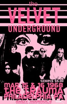 The Velvet Underground 1968 Concert Poster.