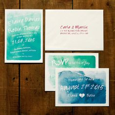 Framed Watercolour Wedding Invitation Suite & Save the Date - DIY Printable Option