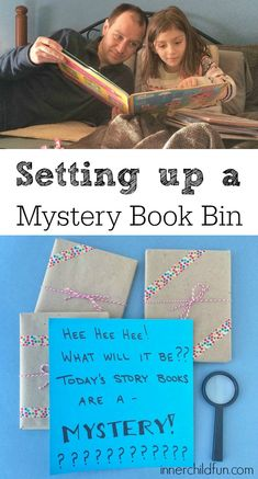 Mystery Book Basket! -- Love this idea!! Like going on a blind date with a book!