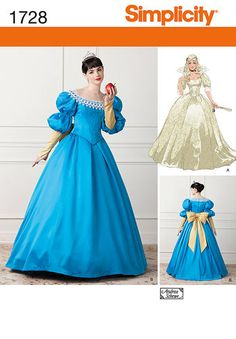 Do you want to create your own costume for a party or a social event?Take advantage of our extensive range of costume patterns! At Spotlight, you will find costume patterns for everyone, including children, women, men and special plus size patterns! Snow White Costume, White Costumes, Ariel Pink Dress, Carnaval Costume, Cinderella Gowns, Cinderella 2015, Vestidos Color Rosa, Fairy Tale Costumes, Fairytale Gown