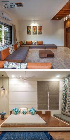 Trendy home renovation brick 52 Ideas Living Room Sofa Design, Bedroom Bed Design, Home Decor Bedroom, Indian Home Interior, Home Interior Design, Style At Home, D House, Trendy Home, Apartment Interior