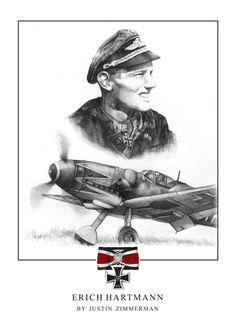 Highest scoring ace of the Luftwaffe, Major Erich Hartmann. Ww2 Aircraft, Fighter Aircraft, Military Aircraft, Luftwaffe, Military Art, Military History, Erich Hartmann, Airplane Fighter, Focke Wulf