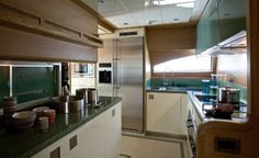 Private Mega Luxury Yachts kitchen Interiors | ... kitchens included on luxury yachts, mega yachts, and similar types of