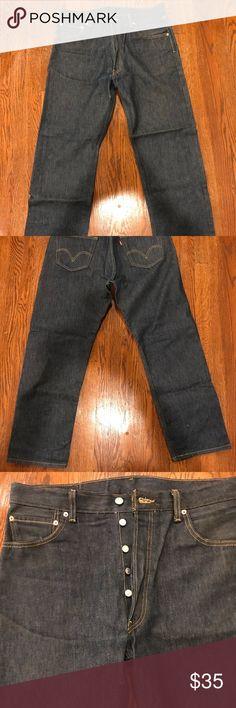 Levi 501 buttonfly jeans Levi 501 buttonfly jeans original denim blue Levi's Jeans Straight
