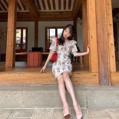 """"""" look so adorable is this little floral dress 💐🌷🌹🌺🌸🌼🌻 Luna Fashion, Fashion Fall, Fashion Men, Girl Fashion, Fashion Trends, Flower Dresses, The Dress, Korean Girl, Kpop Girls"""
