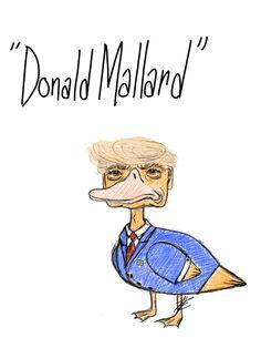 """Donald Mallard"" Trump sketch — by HE Art"