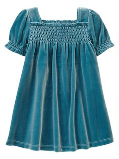 velour girls dress - how adroable for the holidays with silver accessories!