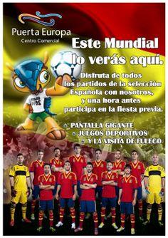 Y muy pronto empieza el mundial de Brasil, justamente el 13 de Junio, y nosotros estaremos en el cc puerta europa de Algeciras proyectando todos los partidos de españa, Os esperamos.