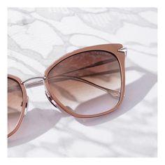 The ARISE cat-eye sunglasses in Rose Gold by DITA Eyewear