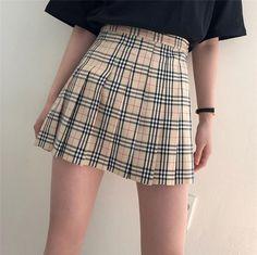"Harajuku Fashion Khaki Grid Pleated Skirt SE11240 Use coupon code ""cutekawaii"" for 10% off #skirt #skirts #tutu"