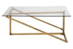 Dearborn Coffee Table, Gold