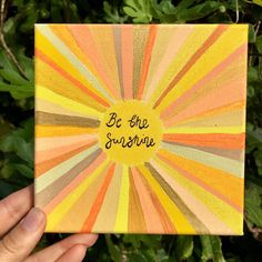 Diy Canvas Art 85775 Excited to share this item from my shop: Be The Sunshine Wall Art/ Uplifting quote Original Canvas Colourful Sun Yellow Yoga Art/ Fun Positive Mixed Media OOAK Simple Canvas Paintings, Easy Canvas Art, Small Canvas Art, Easy Canvas Painting, Mini Canvas Art, Cute Paintings, Diy Canvas, Canvas Quote Paintings, Paintings With Quotes