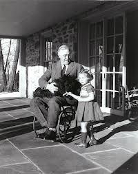 Franklin Delano Roosevelt in his Wheelchair with Fala and Ruthie Bie at Top Cottage, Hyde Park, New York [[MORE]] One of the few pictures which show former president Franklin D. Roosevelt in his wheelchair, as he did not want them to be taken if they.