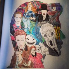 Coloring Books Colouring Doctors Doctor Who Vintage Tenth Pages Book The