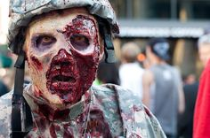 Zombie Soldier- Denver Zombie Crawl 2011. Makeup done by Sabrina Fitzgerald. Photo taken by Consueloking.