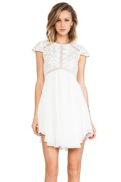 Lumier Heart of glass A-line Dress in White from REVOLVEclothing