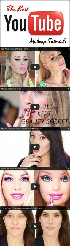Top 10 Youtube Makeup Tutorials | The Best Beauty Tips and Tricks at http://makeuptutorials.com/youtube-makeup-tutorials-part-1/