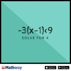 Try this math problem and solve for x.