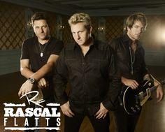 "Rascal Flatts, ""My Wish, Broken Road, I won't let go, Easy..............Love their  music"