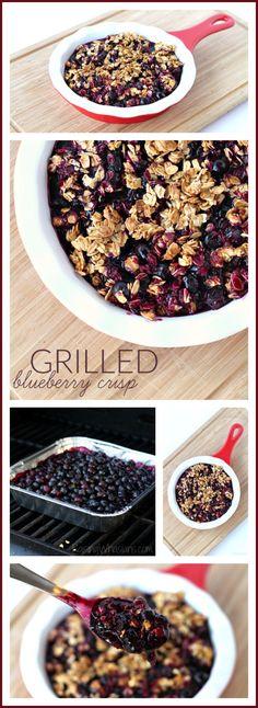 Easy Grilled Blueberry Crisp Recipe - Raising Whasians