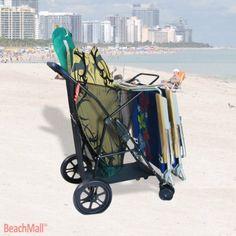 Rio Wonder Wheeler Plus Beach Cart Rio Beach Chairs, Small Leather Chairs, Barber Chair For Sale, Fishing Cart, Beach Wagon, Beach Cart, Best Embroidery Machine, Best Mac, Metal Patio Furniture