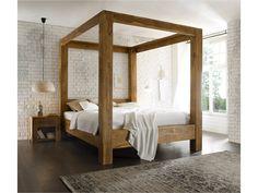 Masivní postel 180x200 z palisandru Kraft