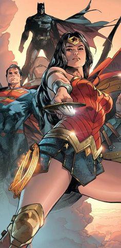 Wonder Woman (and Superman . and Batman), by Clay Mann Dc Comics Heroes, Arte Dc Comics, Dc Comics Characters, Dc Comics Art, Dc Comics Women, Batman E Superman, Batman Comic Art, Batman Comics, Batman Robin