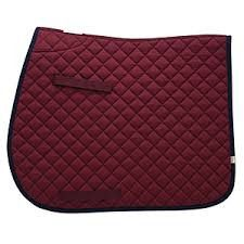 Union Hill All Purpose English Economy Saddle Pad with Girth and Billet Straps