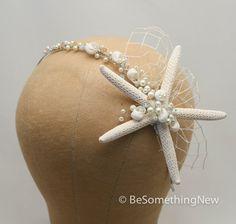 Hey, I found this really awesome Etsy listing at https://www.etsy.com/listing/189853296/beach-wedding-starfish-bridal-headband