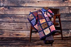 Larger Lap Size Stained Glass Batik Quilt by CityQuilts on Etsy