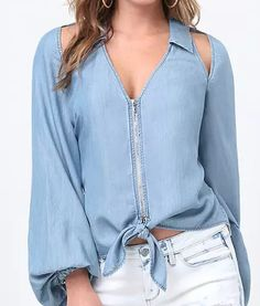 Swans Style is the top online fashion store for women. Shop sexy club dresses, jeans, shoes, bodysuits, skirts and more. Classic Outfits, Chic Outfits, Hijab Fashion, Fashion Dresses, Short Sleeve Collared Shirts, Estilo Jeans, Cute Fashion, Womens Fashion, Blouse Dress