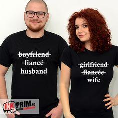 Tricouri cuplu Husband & Wife Boyfriend, Husband, T Shirts For Women, Couples, Tops, Fashion, Moda, Fashion Styles, Boyfriends