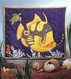 Cool fish art quilt