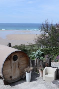 The Scarlet Hotel in Mawgan Porth is home to Cornwall's most luxurious spa. Enjoy views from the cliff hot tub over the beach and relax by the pool. Cornwall Accommodation, Places In Cornwall, Cornwall Beaches, Great Places, Places To Go, Cornwall Garden, Large Greenhouse, Honeymoon Style, Best Spa