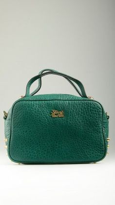 Caspiana Thorny emerald green tote
