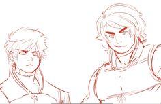 Erraday - Ninjago Sketch, Cole, and Kai