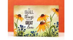 PB&J: Brushstroke Stamping with Penny Black Daisies