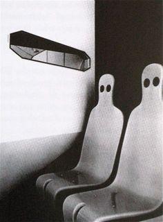 "Roger Tallon ""Zombie"" chairs for the ""Astrolabe Café"" Paris 1967"