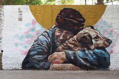 Mural painted by El Marian in Coghlan   © Buenos Aires Street Art