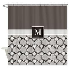 Monogram with letter M Shower Curtain
